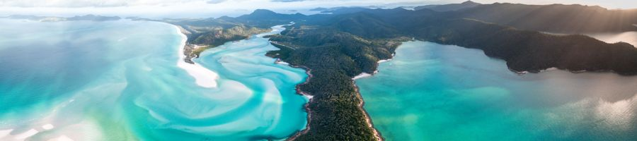 whitehaven beach, aerial