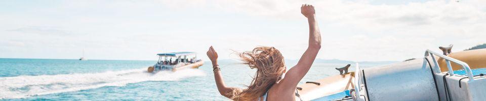 Ocean Rafting Hands in the air
