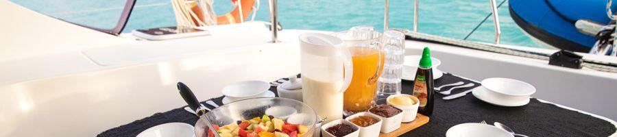 Alfresco breakfast Whitsunday Blue Menu