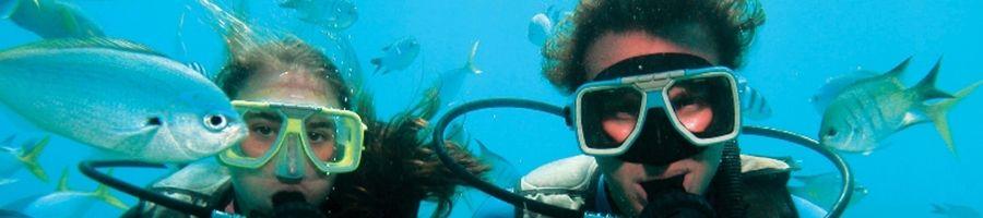 Scuba diving Heart Pontoon in Hardy Reef instructors CW