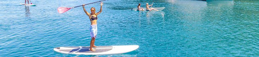 Standup paddleboards entice Whitsundays