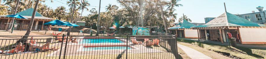 Base Airlie Beach,pool, hammock