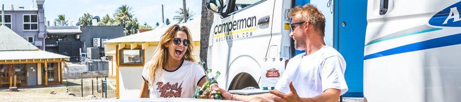 Camperman, Couple having fun, Campervan