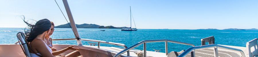 Whitsunday Bullet relaxing Catamaran