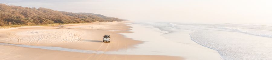 driving fraser island, hire car