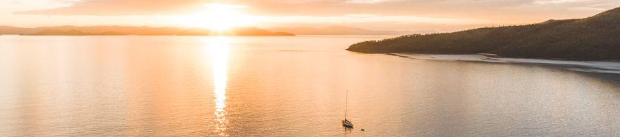 sailing whitsundays; sunset