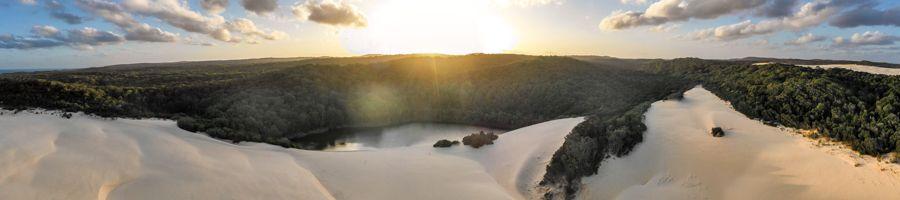 sunset, fraser island