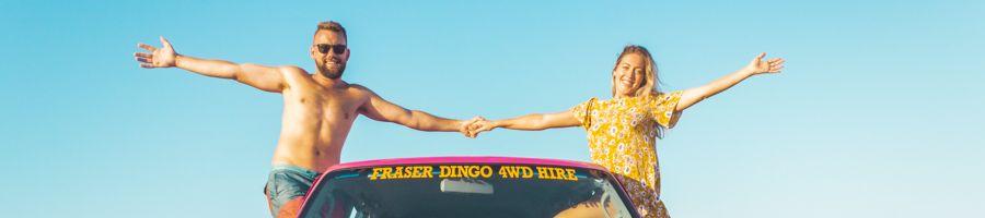 fraser dingo, 4wd hire, fraser island