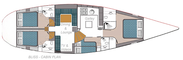Whitsunday Bliss Cabin Layout