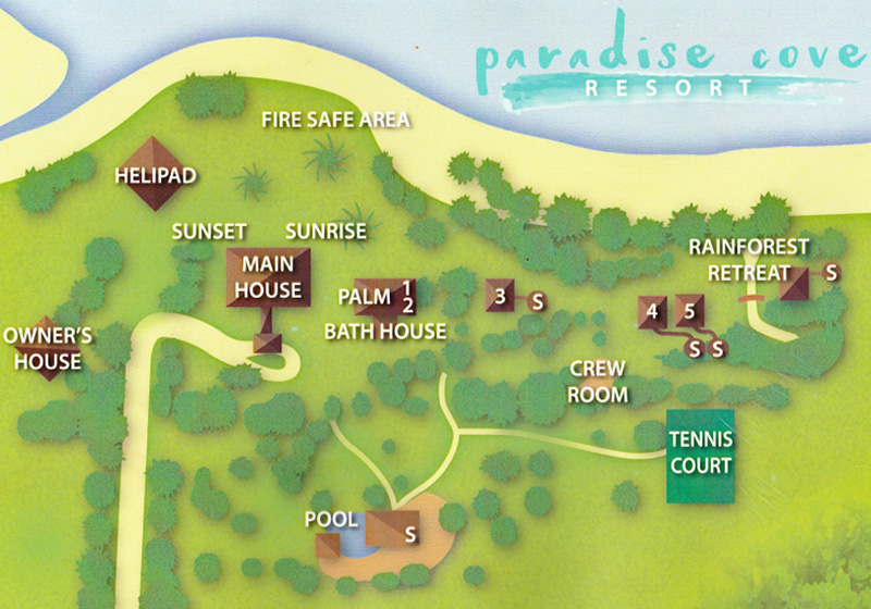 Paradise Cove Resort Layout